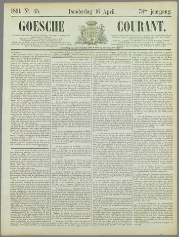 Goessche Courant 1891-04-16
