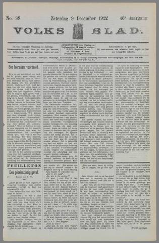 Volksblad 1922-12-09