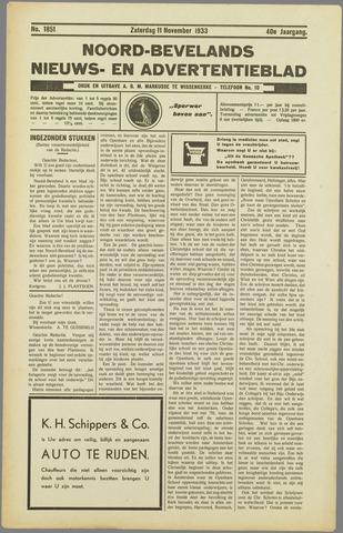 Noord-Bevelands Nieuws- en advertentieblad 1933-11-11