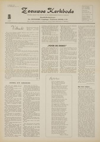Zeeuwsche kerkbode, weekblad gewijd aan de belangen der gereformeerde kerken/ Zeeuwsch kerkblad 1970-03-19