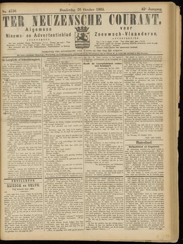 Ter Neuzensche Courant. Algemeen Nieuws- en Advertentieblad voor Zeeuwsch-Vlaanderen / Neuzensche Courant ... (idem) / (Algemeen) nieuws en advertentieblad voor Zeeuwsch-Vlaanderen 1905-10-26