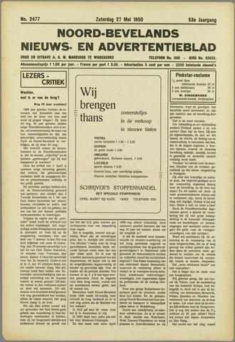 Noord-Bevelands Nieuws- en advertentieblad 1950-05-27