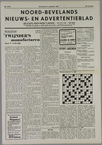 Noord-Bevelands Nieuws- en advertentieblad 1984-09-13