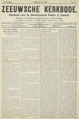 Zeeuwsche kerkbode, weekblad gewijd aan de belangen der gereformeerde kerken/ Zeeuwsch kerkblad 1927-05-27