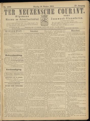 Ter Neuzensche Courant. Algemeen Nieuws- en Advertentieblad voor Zeeuwsch-Vlaanderen / Neuzensche Courant ... (idem) / (Algemeen) nieuws en advertentieblad voor Zeeuwsch-Vlaanderen 1911-10-31