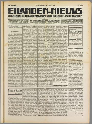 Eilanden-nieuws. Christelijk streekblad op gereformeerde grondslag 1938-04-13