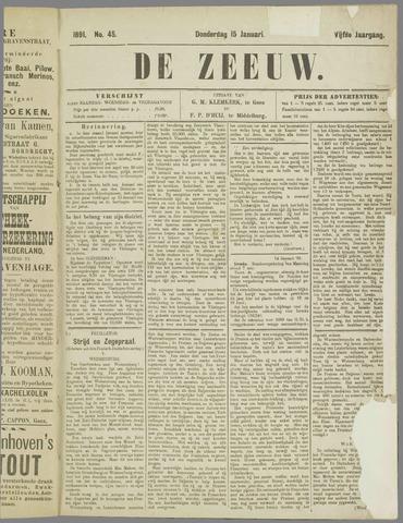 De Zeeuw. Christelijk-historisch nieuwsblad voor Zeeland 1891-01-15