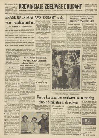 Provinciale Zeeuwse Courant 1957-10-22
