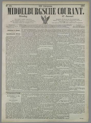Middelburgsche Courant 1891-01-27