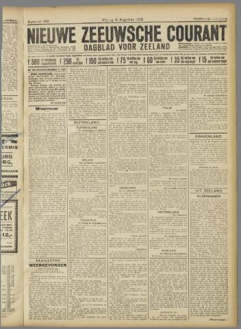 Nieuwe Zeeuwsche Courant 1922-08-04