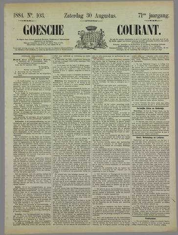 Goessche Courant 1884-08-30