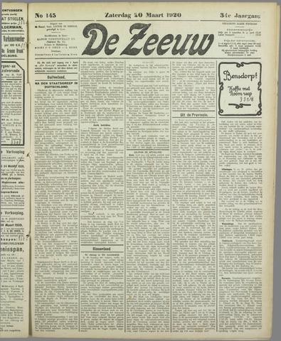 De Zeeuw. Christelijk-historisch nieuwsblad voor Zeeland 1920-03-20