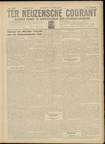 Ter Neuzensche Courant. Algemeen Nieuws- en Advertentieblad voor Zeeuwsch-Vlaanderen / Neuzensche Courant ... (idem) / (Algemeen) nieuws en advertentieblad voor Zeeuwsch-Vlaanderen 1937-04-12