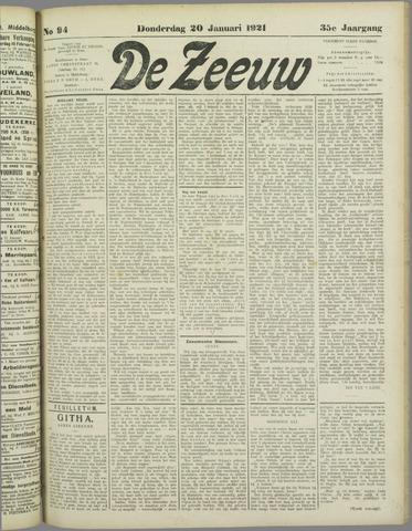 De Zeeuw. Christelijk-historisch nieuwsblad voor Zeeland 1921-01-20