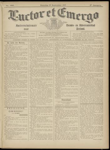 Luctor et Emergo. Antirevolutionair nieuws- en advertentieblad voor Zeeland / Zeeuwsch-Vlaanderen. Orgaan ter verspreiding van de christelijke beginselen in Zeeuwsch-Vlaanderen 1917-09-15
