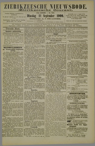 Zierikzeesche Nieuwsbode 1900-09-11