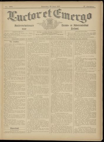 Luctor et Emergo. Antirevolutionair nieuws- en advertentieblad voor Zeeland / Zeeuwsch-Vlaanderen. Orgaan ter verspreiding van de christelijke beginselen in Zeeuwsch-Vlaanderen 1917-06-30