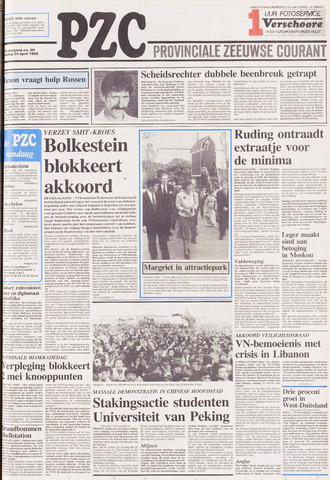 Provinciale Zeeuwse Courant 1989-04-24