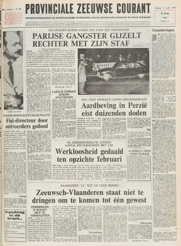 Provinciale Zeeuwse Courant 1972-04-11