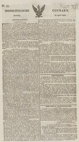 Middelburgsche Courant 1829-04-18