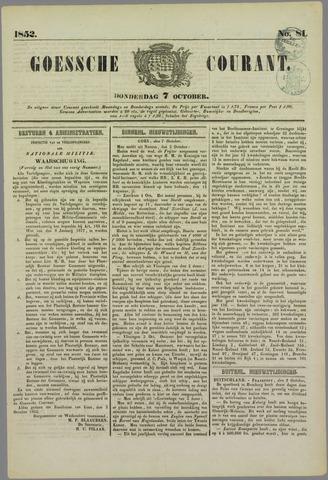 Goessche Courant 1852-10-07