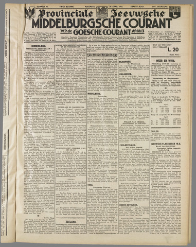 Middelburgsche Courant 1933-04-24