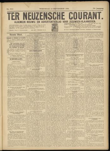 Ter Neuzensche Courant. Algemeen Nieuws- en Advertentieblad voor Zeeuwsch-Vlaanderen / Neuzensche Courant ... (idem) / (Algemeen) nieuws en advertentieblad voor Zeeuwsch-Vlaanderen 1933-09-13