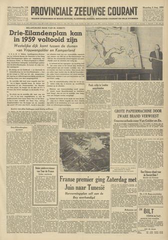 Provinciale Zeeuwse Courant 1954-08-02