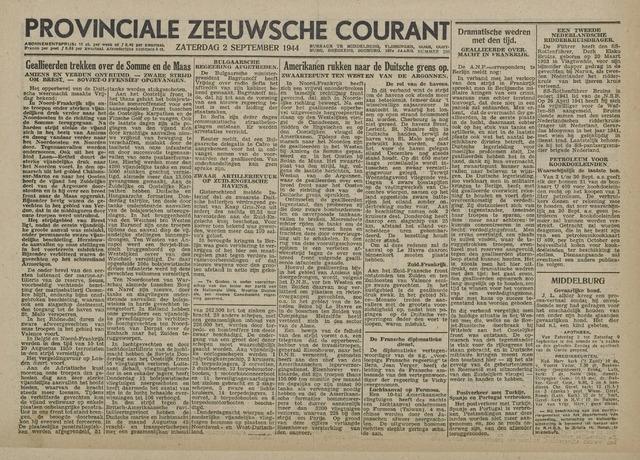 Provinciale Zeeuwse Courant 1944-09-02