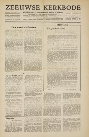 Zeeuwsche kerkbode, weekblad gewijd aan de belangen der gereformeerde kerken/ Zeeuwsch kerkblad 1955-11-04