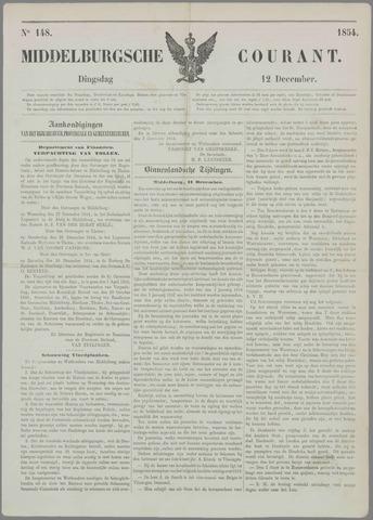 Middelburgsche Courant 1854-12-12