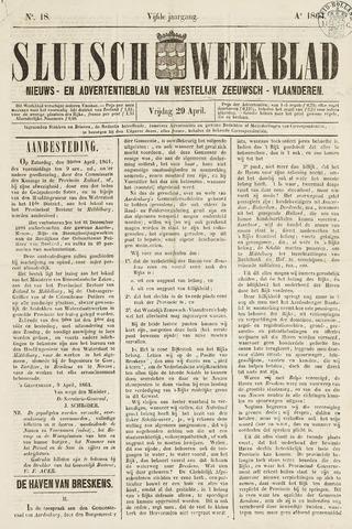 Sluisch Weekblad. Nieuws- en advertentieblad voor Westelijk Zeeuwsch-Vlaanderen 1864-04-29