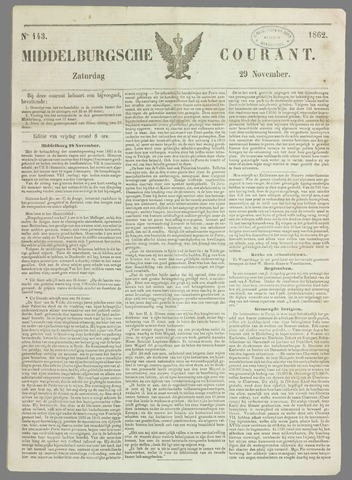 Middelburgsche Courant 1862-11-29