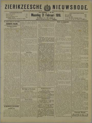 Zierikzeesche Nieuwsbode 1916-02-21