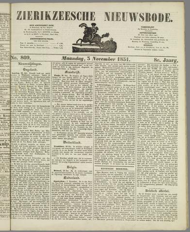 Zierikzeesche Nieuwsbode 1851-11-03