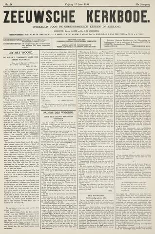 Zeeuwsche kerkbode, weekblad gewijd aan de belangen der gereformeerde kerken/ Zeeuwsch kerkblad 1938-06-17