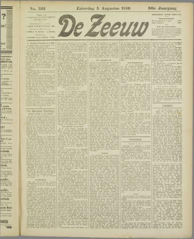 De Zeeuw. Christelijk-historisch nieuwsblad voor Zeeland 1916-08-05