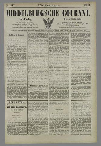 Middelburgsche Courant 1882-09-14