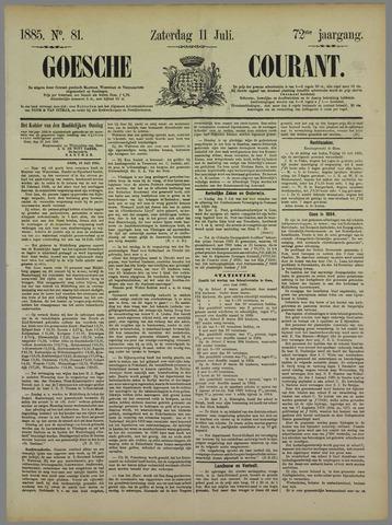 Goessche Courant 1885-07-11