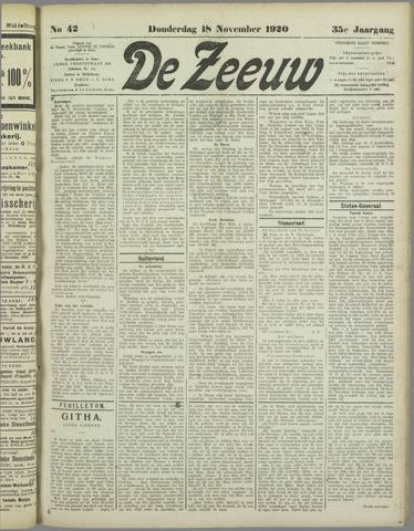 De Zeeuw. Christelijk-historisch nieuwsblad voor Zeeland 1920-11-18