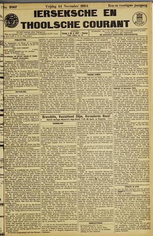Ierseksche en Thoolsche Courant 1924-11-14