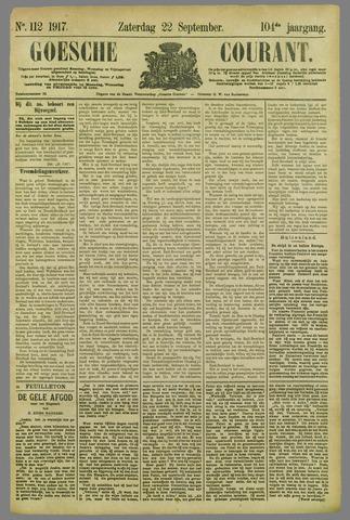 Goessche Courant 1917-09-22