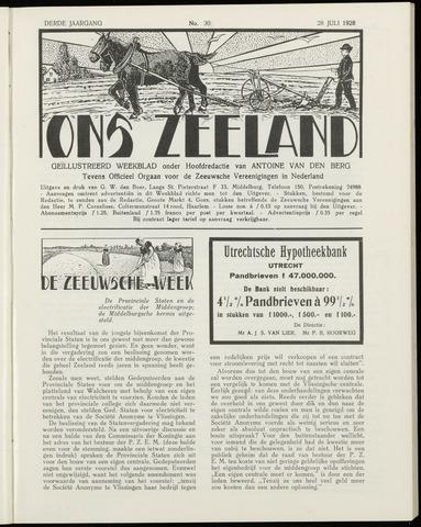 Ons Zeeland / Zeeuwsche editie 1928-07-28