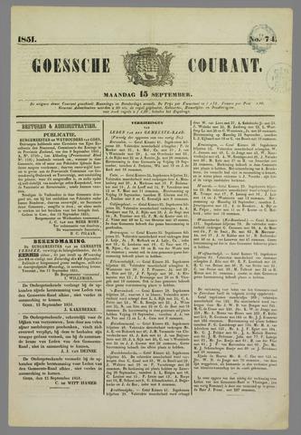 Goessche Courant 1851-09-15