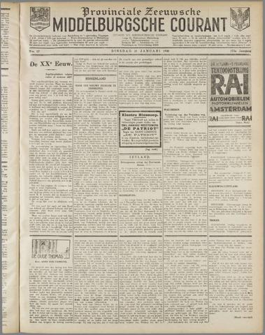 Middelburgsche Courant 1930-01-21