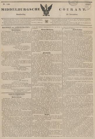 Middelburgsche Courant 1843-11-23