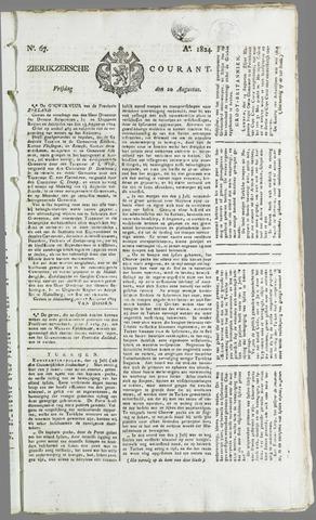 Zierikzeesche Courant 1824-08-20