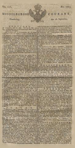Middelburgsche Courant 1775-09-28