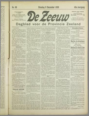 De Zeeuw. Christelijk-historisch nieuwsblad voor Zeeland 1930-12-09