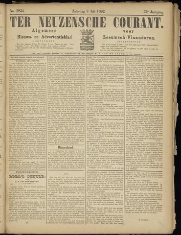 Ter Neuzensche Courant. Algemeen Nieuws- en Advertentieblad voor Zeeuwsch-Vlaanderen / Neuzensche Courant ... (idem) / (Algemeen) nieuws en advertentieblad voor Zeeuwsch-Vlaanderen 1892-07-09